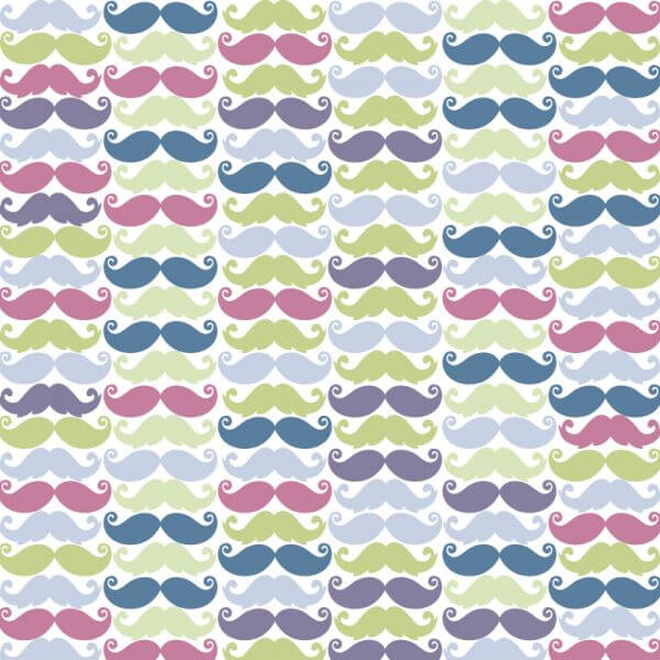 Moustache pattern vector