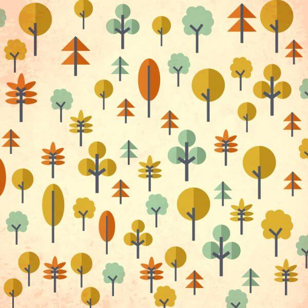 Seamless pattern with trees vector