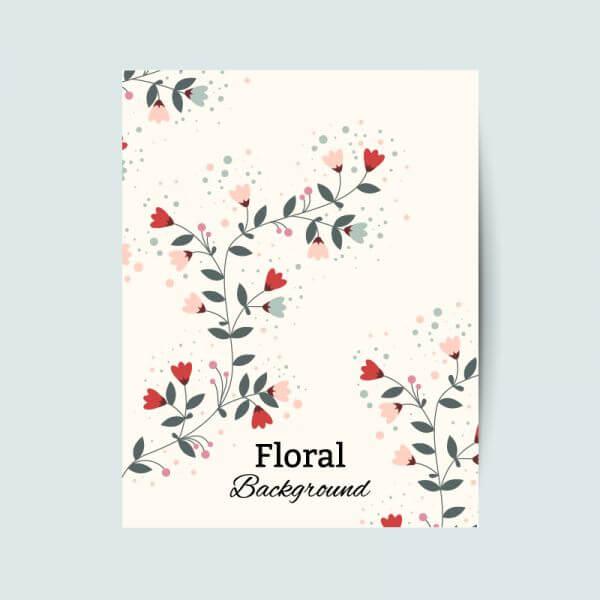 Floral vintage flyer vector