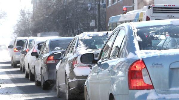 Traffic  snow  winter video