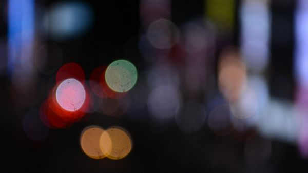 The bokeh  city  round bokeh video