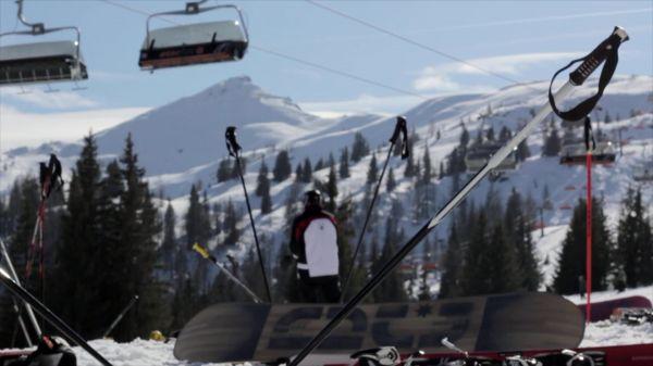 Skiing  resort  winter video