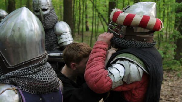Knight  tournament  helmet video