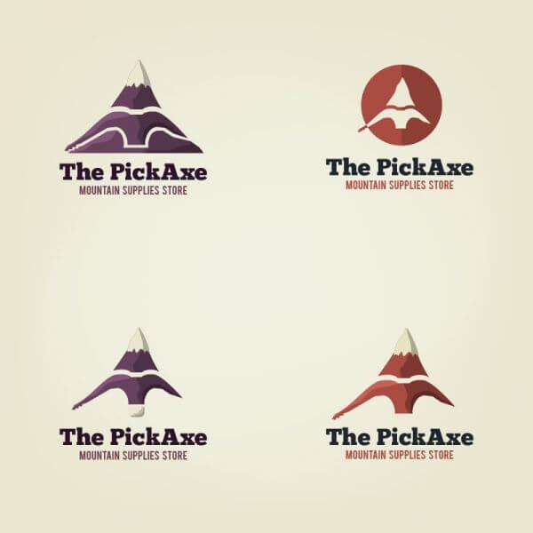 Vector pick axe logo vector