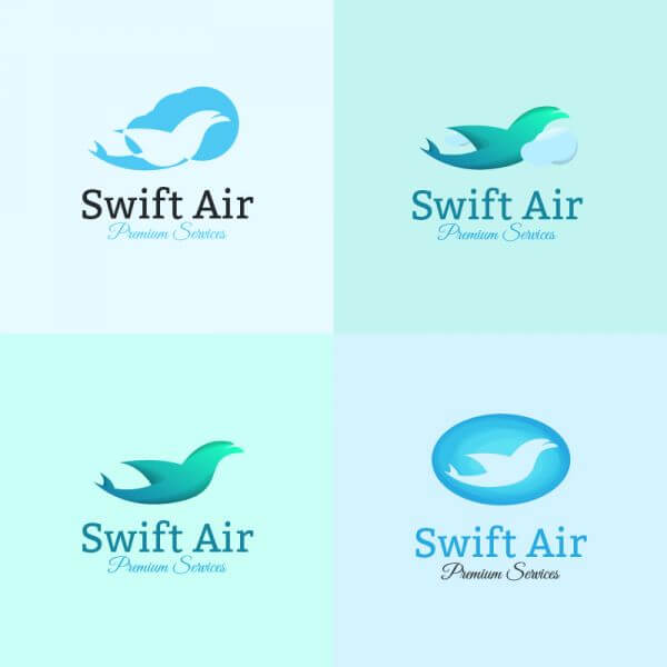Airline logo template vector