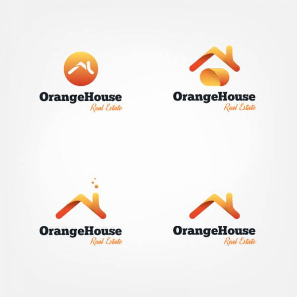 Vector house roofs logo vector