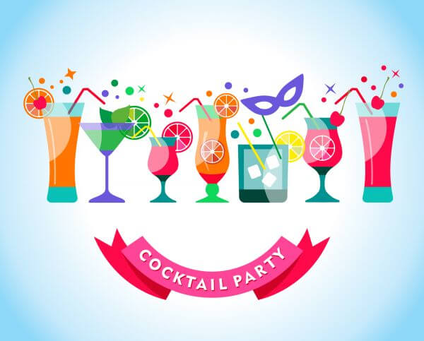 Cocktail party illustration vector