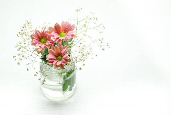 flowers on a vase photo