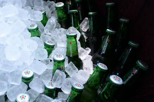 Cooled beer bottles photo