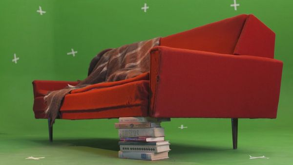 Chromakey  sofa  old video