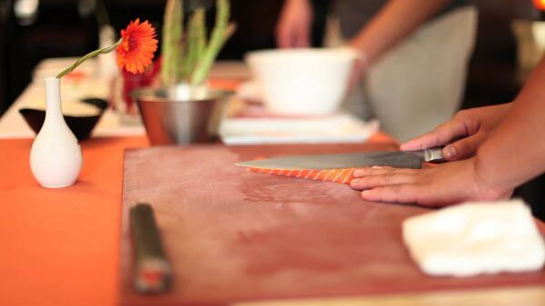 Sushi  sashimi  cooking video
