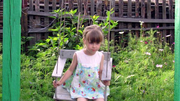 Girl  swing  childhood video