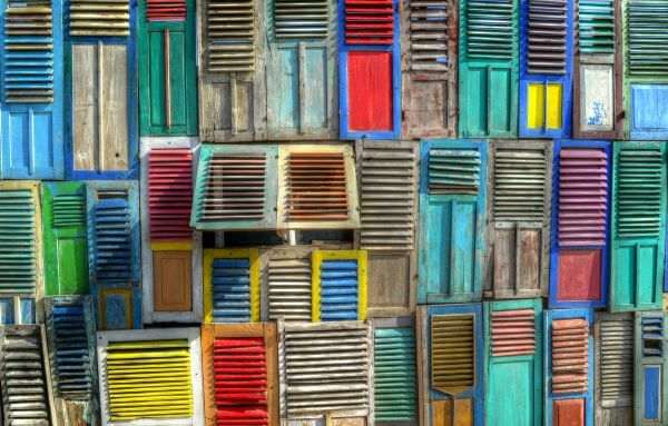 Colorful shutters photo