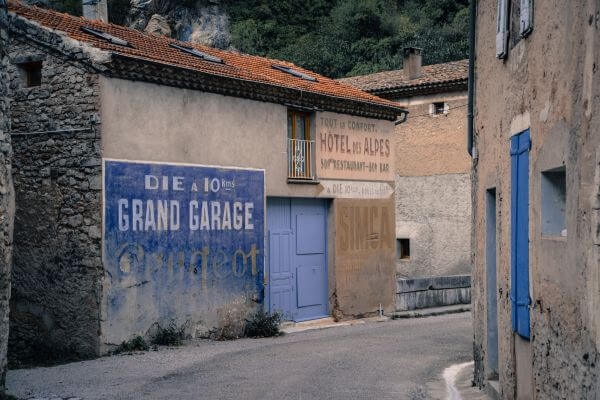 Old French street photo