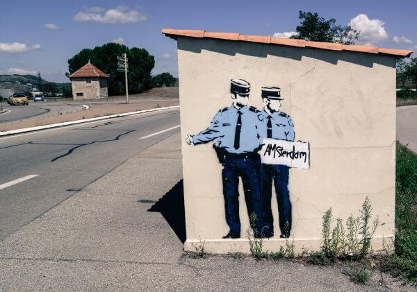 Hitchhiking cops photo