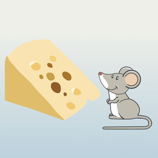 mouse and cheese vector