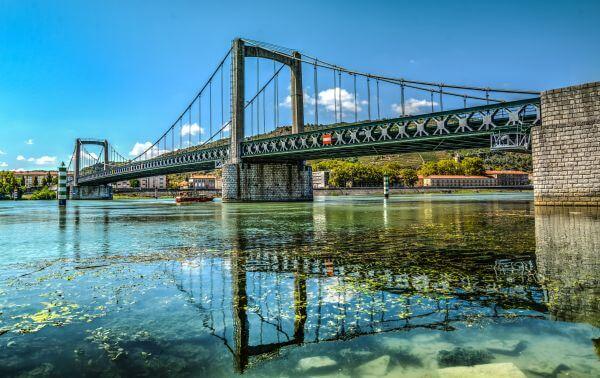 Bridge over the river Rhone photo