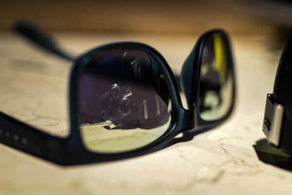 Sunglasses camera reflection photo