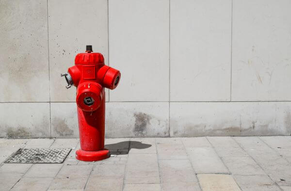 Red fire hydrant photo