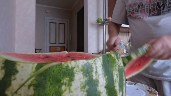 Watermelon  melon  knife video