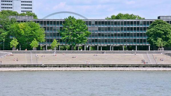 Cologne  rhine  deutzer stairs video