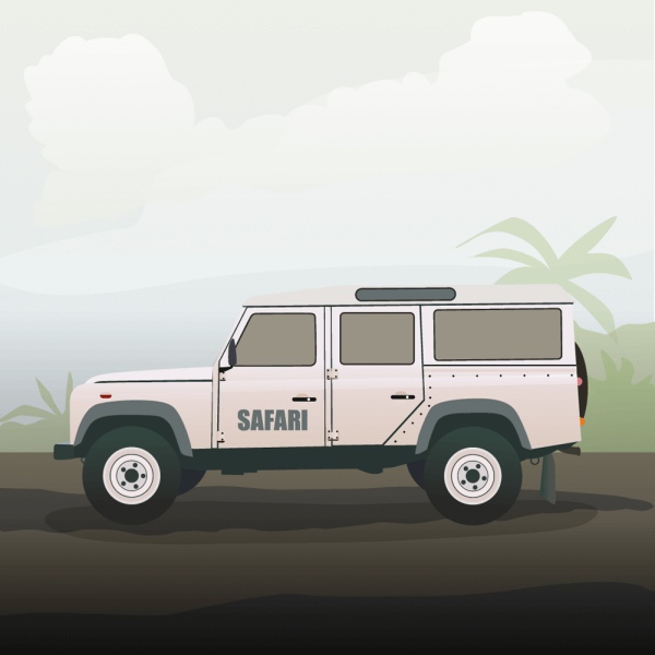 safari truck vector