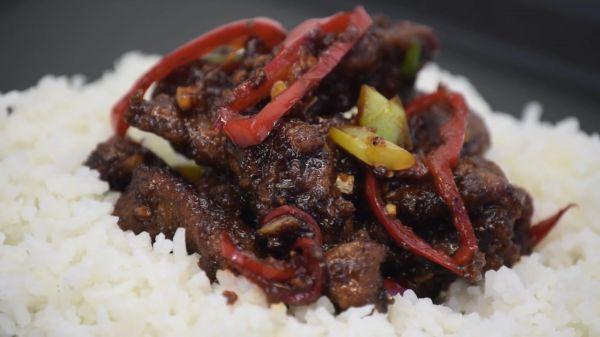 Mongolian  beef  food video