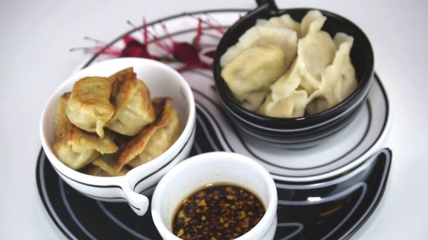 Dumplings  steamed  chives video