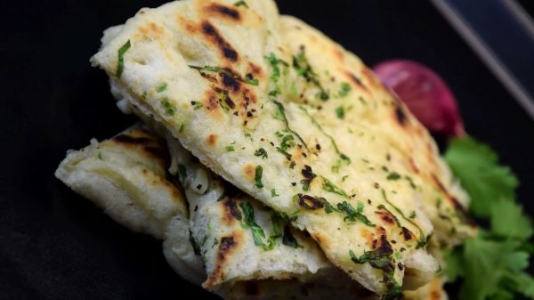 Naan  bread  traditional video