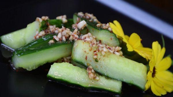 Salad  cucumber  food video