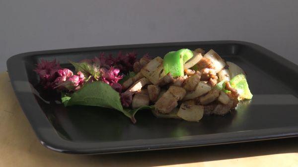Cumin  pork  food video