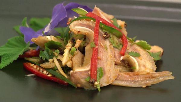 Pig's ear  salad  appetite video