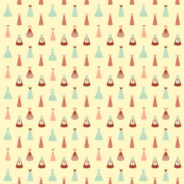 Vintage Dresses Pattern vector