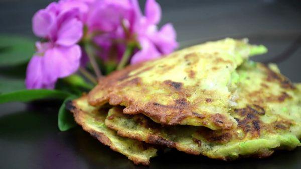 Vegetable  pancakes  food video
