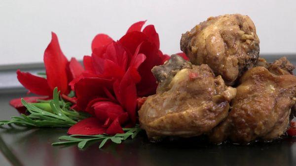 Chicken  red bean sauce  food video