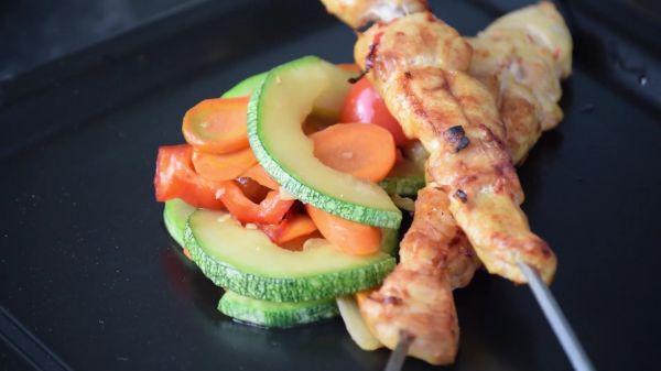 Chicken  skewers  food video