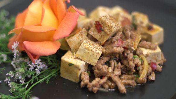 Spicy  tofu  food video