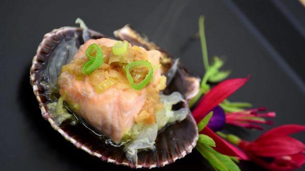 Garlic  salmon  food video