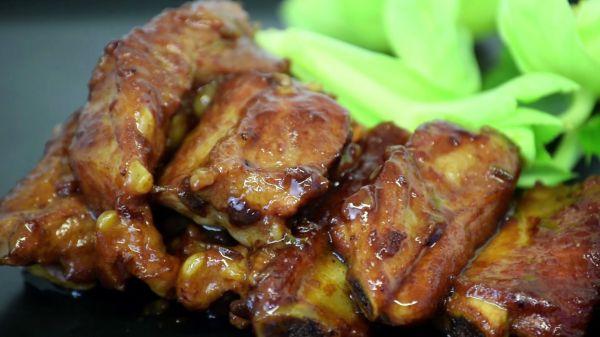 Honey  ribs  food video