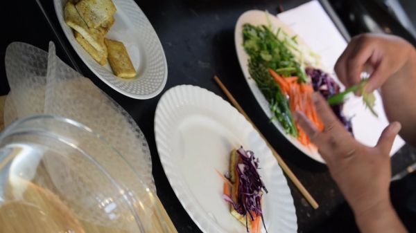 Vegetable  wrap  food video