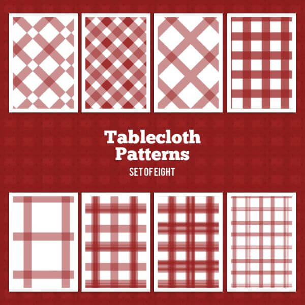Tablecloth Vector Patterns vector