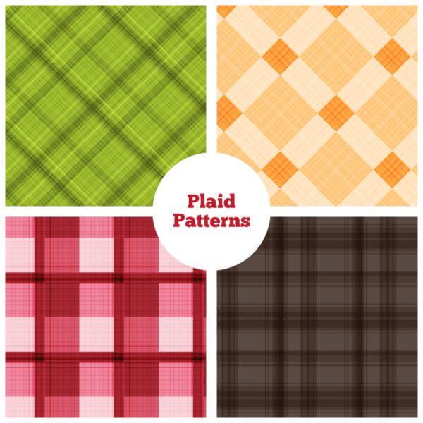 Plaid Vector Patterns vector