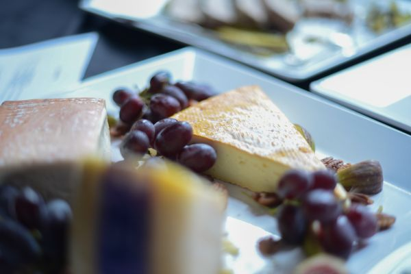 Grapes and cheese photo