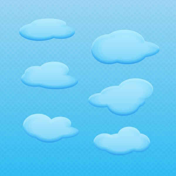 Vector Cartoon Clouds vector