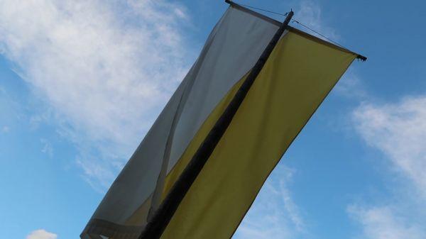 Flag  sky  banner video