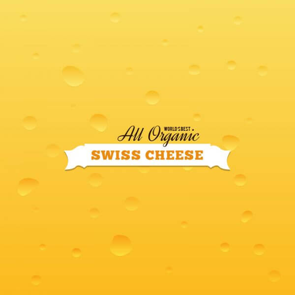 Swiss Cheese Background vector