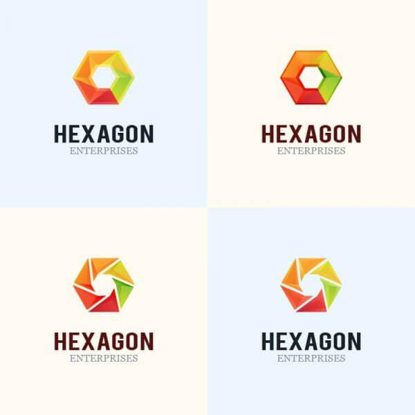 Hexagon Logo Design vector