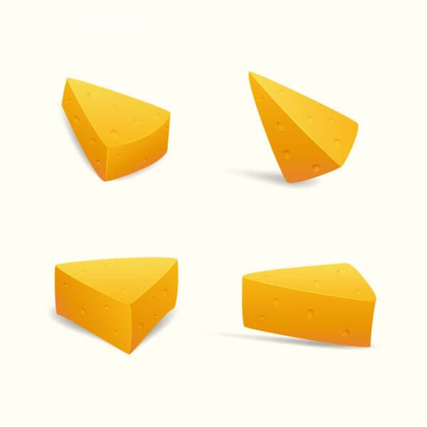 Swiss Cheese Slices vector