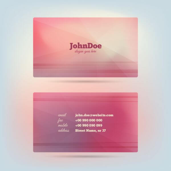 Vector Glow Business Card vector