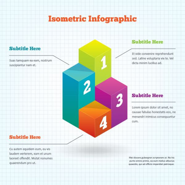 Isometric Infographic Element vector
